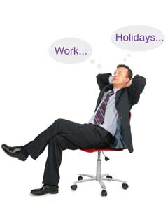 How productive is work during the festive season?