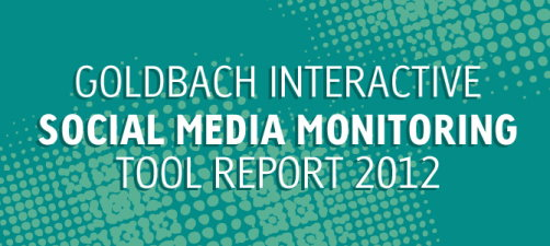 Goldbach Social Media Monitoring Tools report in an infographic